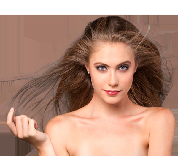 Das Haar ist zum Haarausfall geneigt